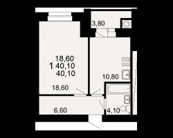 район Канищево, микрорайон-9, Семчинская улица, дом 4 корпус 1, кв. 172
