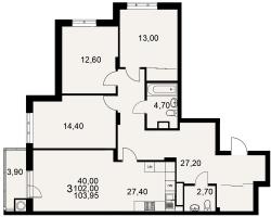 улица Тимуровцев, дом 5а (2-я очередь строительства: 1-2 секция), кв. 228