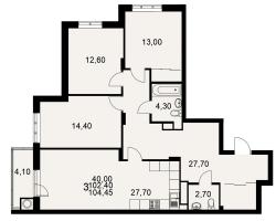 улица Тимуровцев, дом 5а (2-я очередь строительства: 1-2 секция), кв. 151
