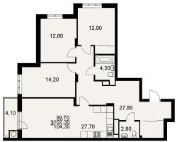 улица Тимуровцев, дом 5а (2-я очередь строительства: 1-2 секция), кв. 165