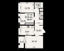 район Песочня, микрорайон-7, дом 4, кв. 129