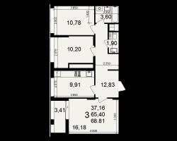 район Песочня, микрорайон-7, дом 4, кв. 155