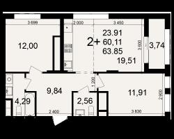 район Песочня, микрорайон-7, дом 4, кв. 157