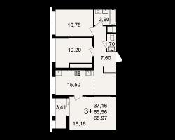 район Песочня, микрорайон-7, дом 4, кв. 220