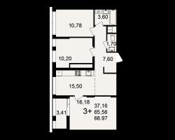 район Песочня, микрорайон-7, дом 4, кв. 233