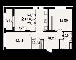 район Песочня, микрорайон-7, дом 4, кв. 286
